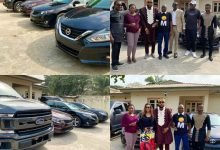 Photo of E-Money gifts 4 exotic cars to his workers as part of his birthday celebration (Photos)