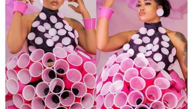 Photo of Creativity at its peak! This Toyin Lawani's cup dress is everything! (Photos)