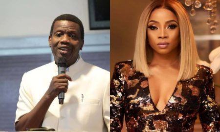 toke makinwa and pastor adeboye