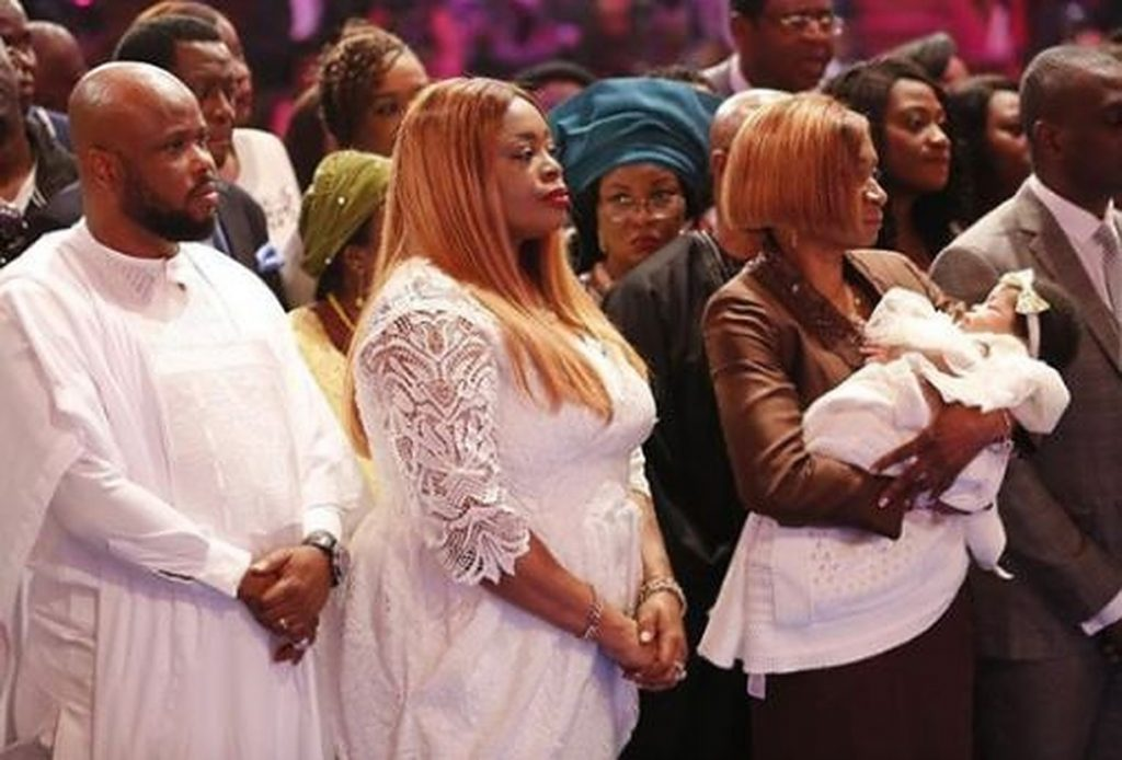 Sinach, husband and child