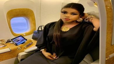 Photo of See photo of Bobrisky's 87-year-old grandma