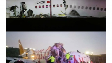 Photo of How Plane broke apart after skidding off runway in Turkey (Photo)