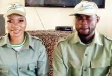 Photo of Kano corps members who got married in their Khaki reveal why they did