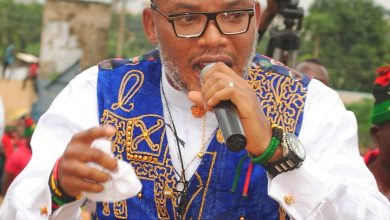 Photo of Nnamdi Kanu boasts about his parents' burial