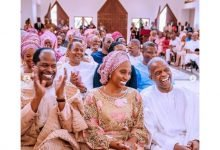 Photo of Vice president Yemi Osinbajo and wife beam with smiles as Laolu Osinbajo weds in Church (photos)