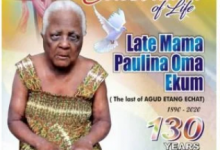 Photo of See the burial poster of 130-year-old woman in Cross Rivers state