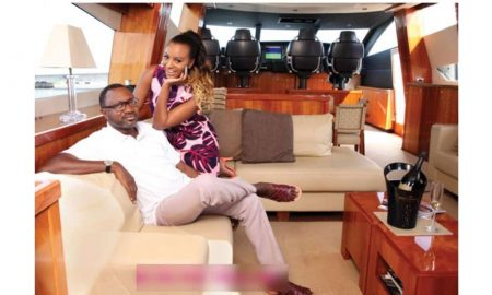 Dj Cuppy and Father