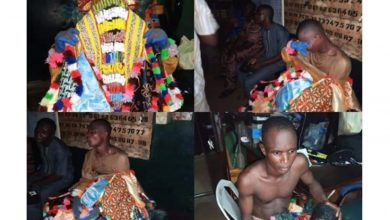 Photo of Masquerade 'Egungun' lands in police station for refusing to stay at home