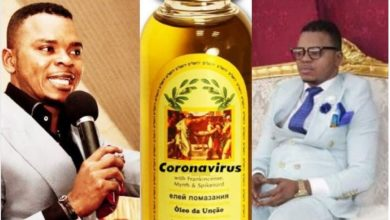Photo of Popular pastor sells coronavirus anointing oil to his members for N13,000