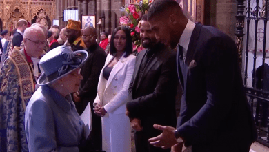 Photo of Anthony Joshua brags about being 'Yoruba' in front of Queen Elizabeth at Commonwealth service (Video)