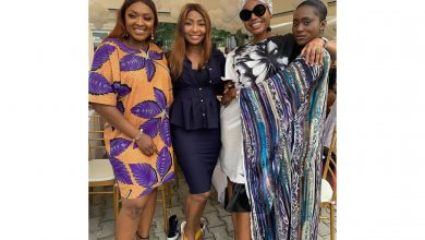 Photo of How Kate Henshaw, Nancy Isime, other celebrities stepped out for Yomi Casual's son dedication