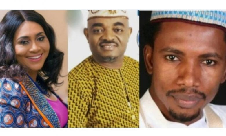Emeka Rollas, Elisha Abo and Hilda Dokubo
