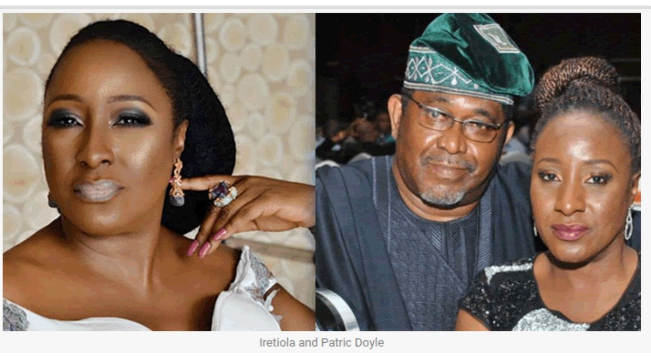 Ireti and Patrick Doyle