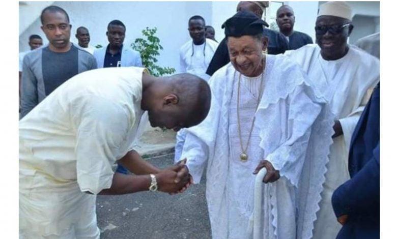 Seyi Makinde and Alafin of Oyo