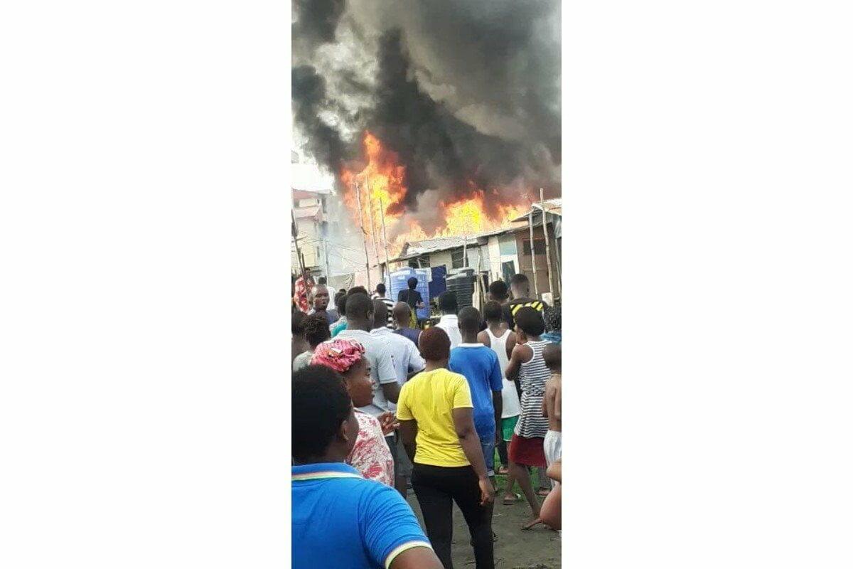 Fire outbreak in Agboju