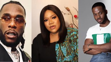 Photo of How Toyin Abraham Reacted After Korede Bello Cautioned Burna Boy