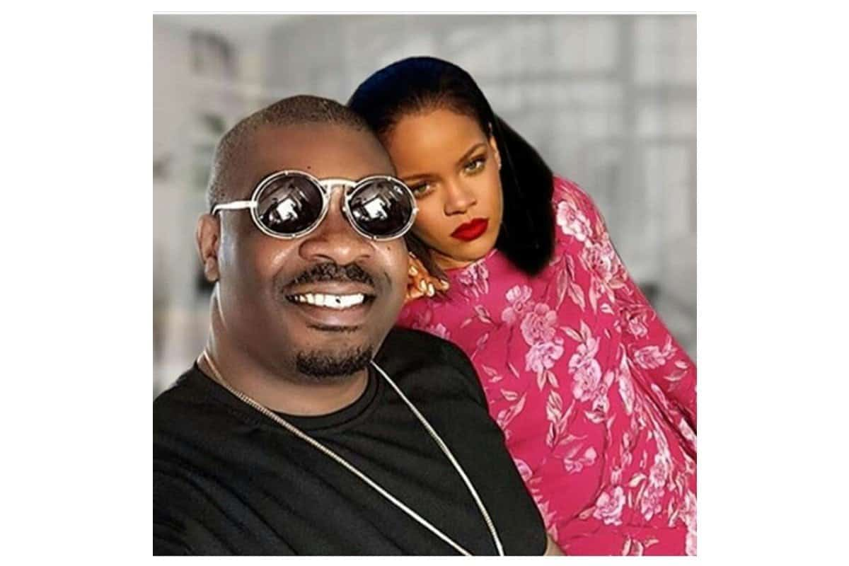 Donjazzy shares picture with Rihanna