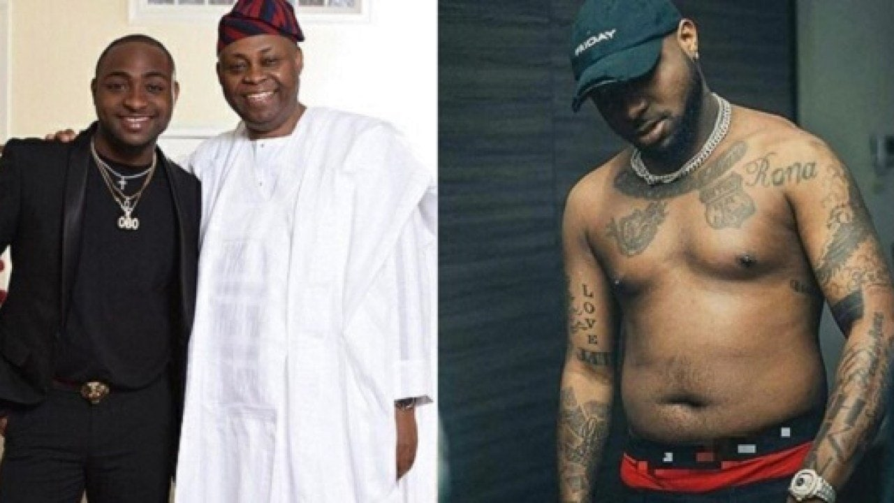 Davido shares throwback picture with his dad