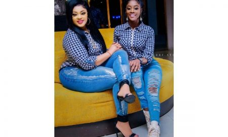 Biodun Okeowo wears same outfit with daughter in new pictures