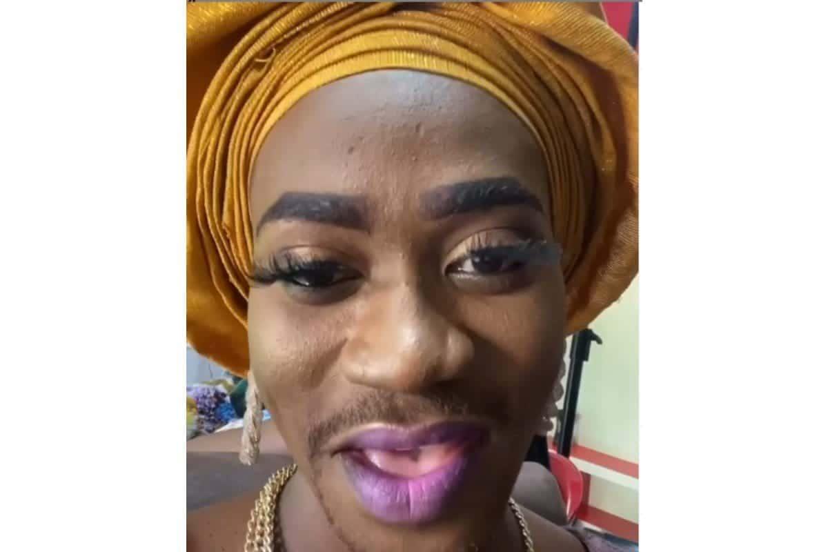 Lateef Adedimeji dresses like a woman