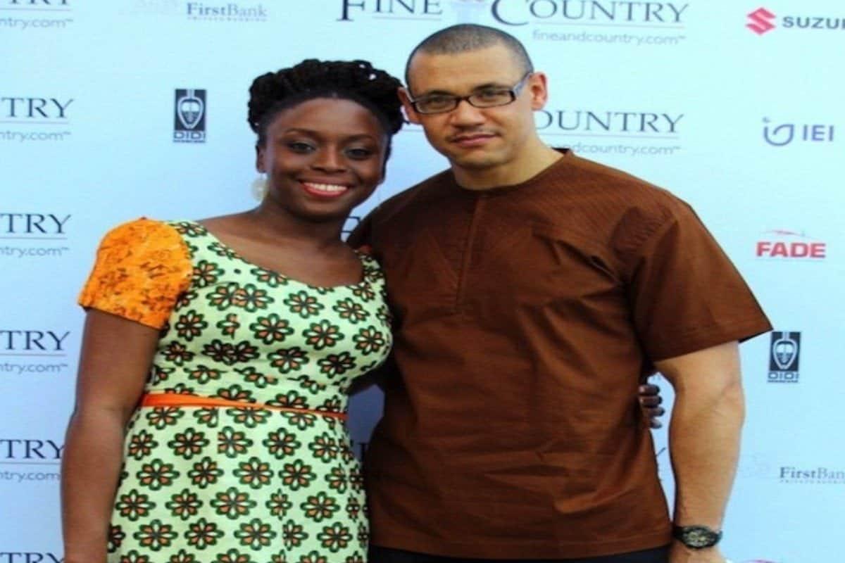 Chimamanda Adichie and husband