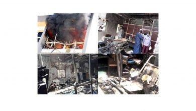 Photo of Wild fire guts INEC's Abuja office (Photos)