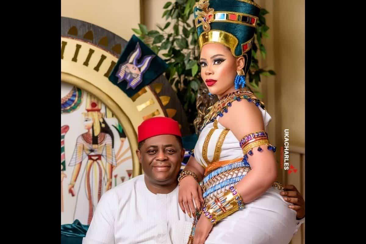 Femi Fani-Kayode and Precious Chikwendu