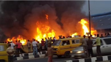 Photo of BREAKING: Fire guts Guinness warehouse in Lagos