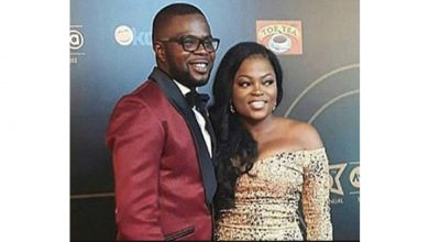 Photo of AY comedian dragged by the neck on Twitter for saying this about Funke Akindele (See Tweets)