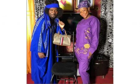 Kunle Afod and wife