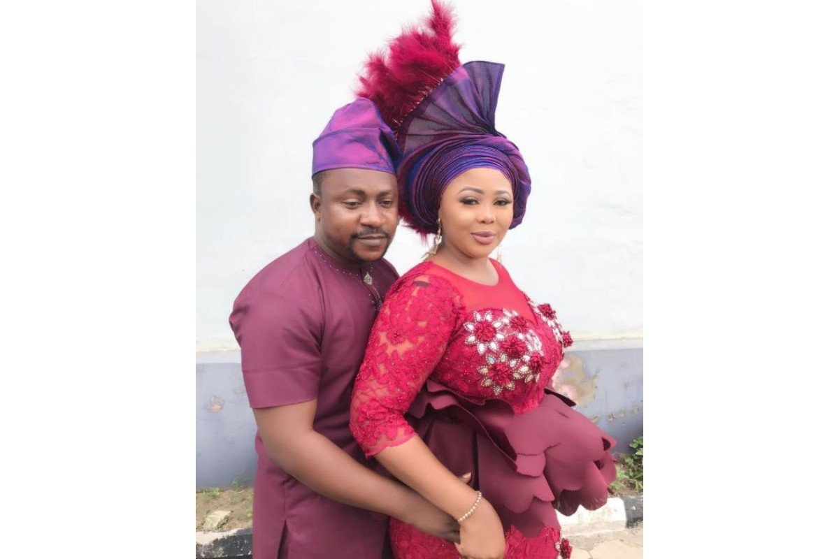 Segun Ogungbe celebrates his wife Wunmi Ajiboye