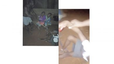 Photo of Nigerian man breaks his children's bones with hammer over their mother's offense | Details