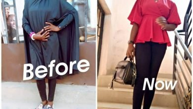 Photo of Muslims kick as former hijab lady celebrates 10 years since converting to Christianity