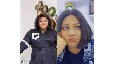 Photo of Nkechi Blessing begs Eniola Badmus for money as actress receives 1million naira from a 'fan'
