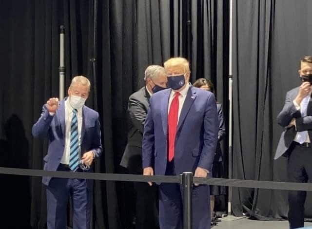 President Trump Finally Wears Face Mask After VP Was Heavily Criticized For Not Wearing One