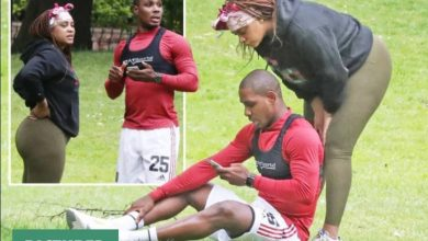 Photo of Odion Ighalo trains with mystery woman amid marital crisis