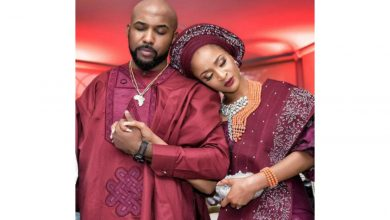 "Photo of ""Your kids will be beautiful"" Banky W, Adesua Etomi receive prayers from Mo Abudu, Sola Sobowale, others"