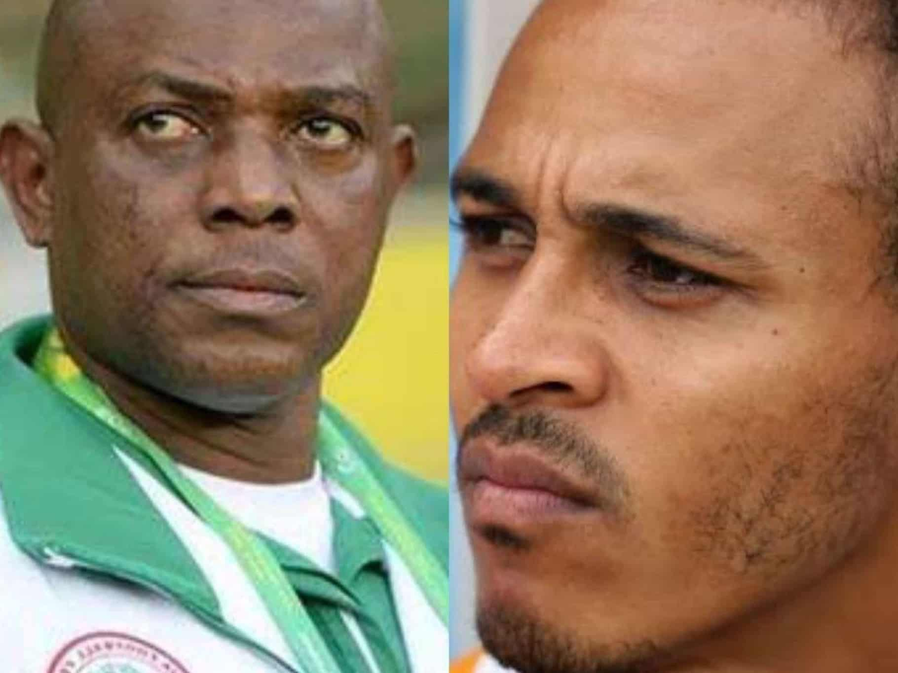 Stephen Keshi and Osaze Odemwingie