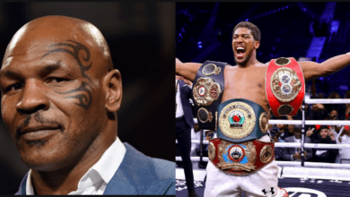 Photo of Mike Tyson ignores Anthony Joshua as he names top 5 boxers