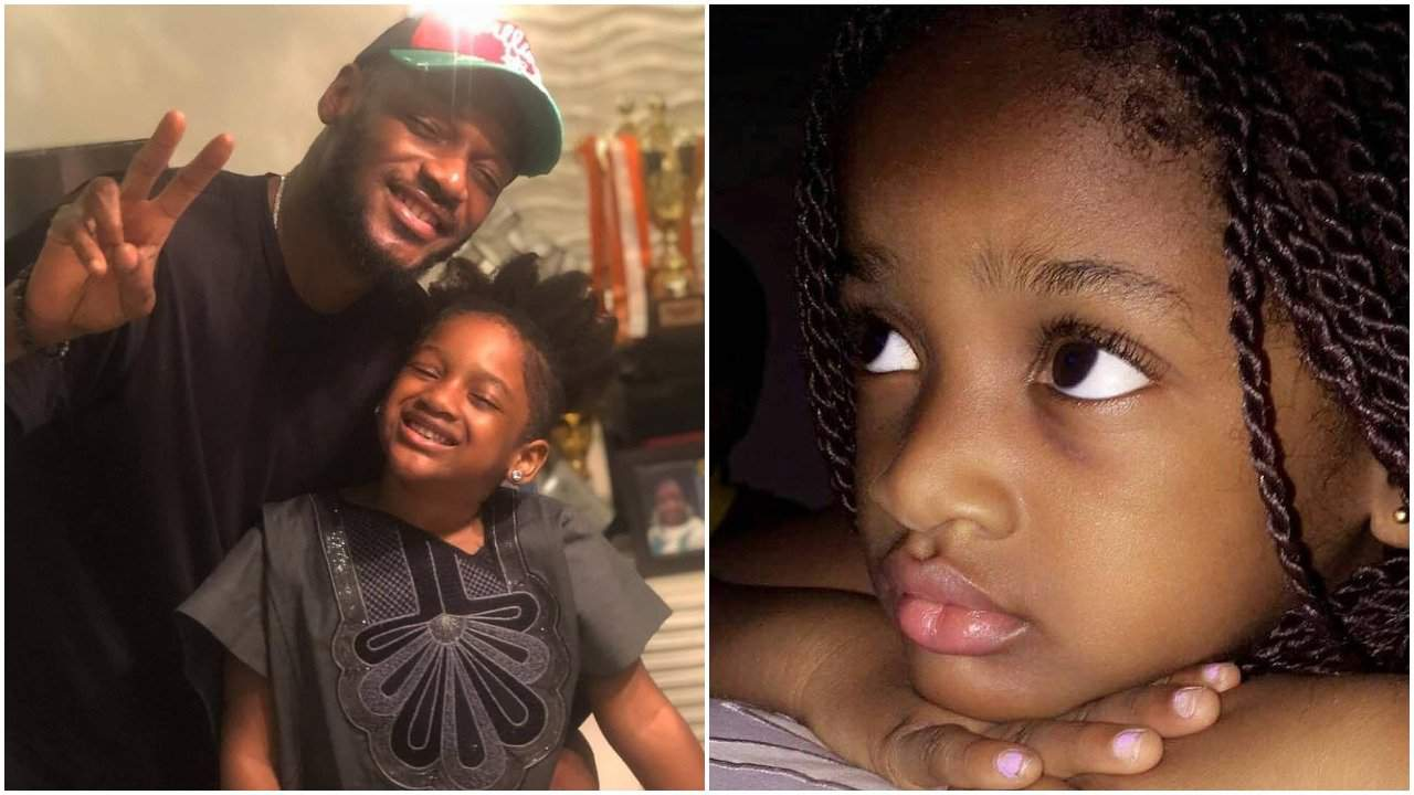 2face Idibia and Daughter, Olivia