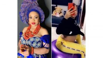 Photo of Heavily pregnant BBNaija ex housemate, Nina Ivy shows off her cute baby bump  Video