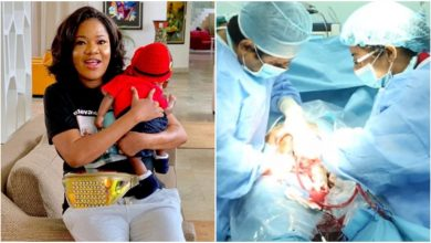 Photo of Toyin Abraham shares full video of  how she birthed her baby in the labour room |Watch