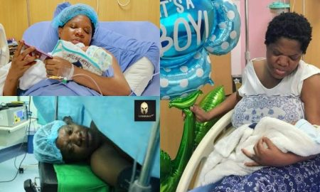 Toyin Abraham criticized for sharing childbirth video