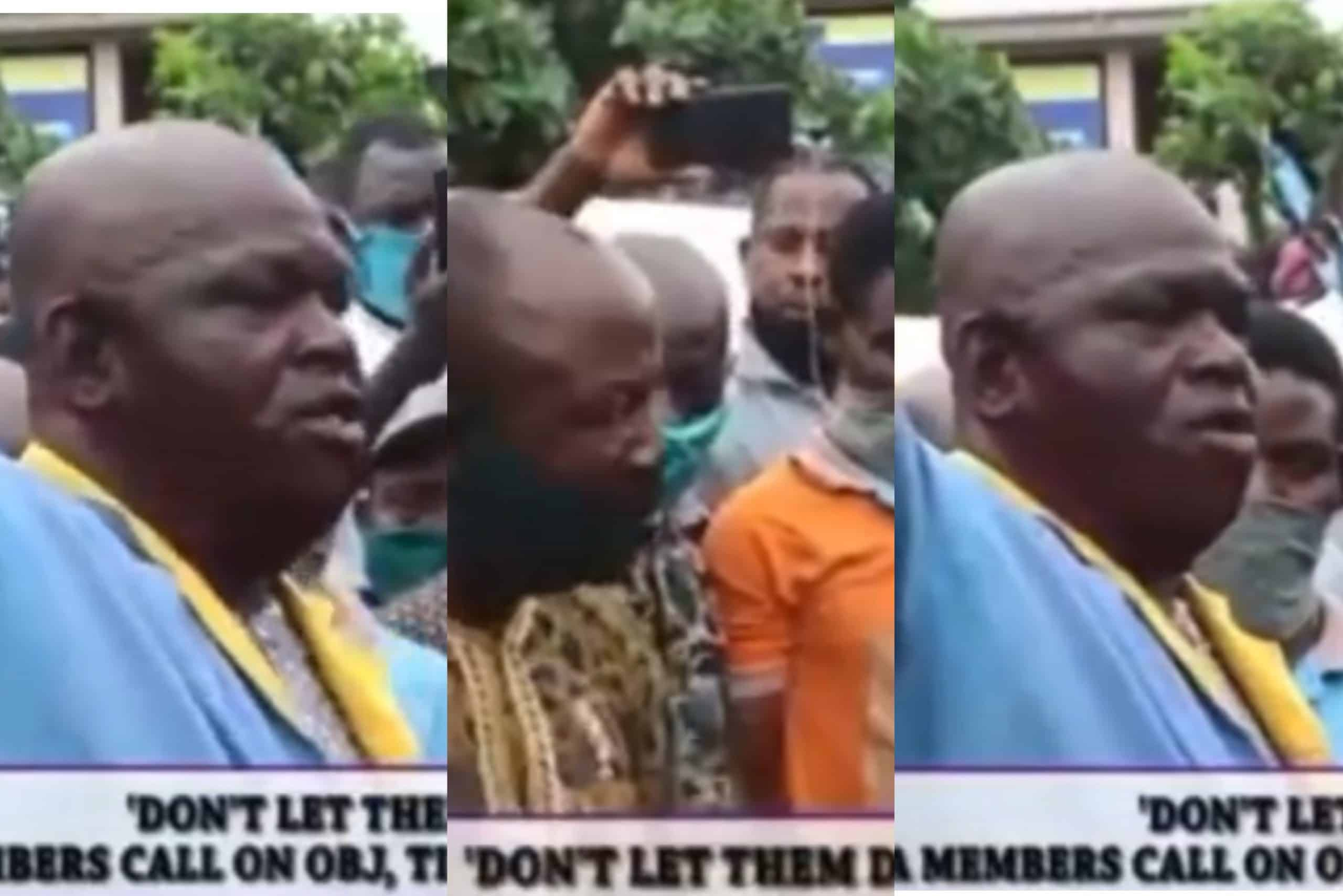 """Photo of """"Igbo people want to take over our lands"""" – Yoruba People in Ladipo cry out to Tinubu and Obasanjo"""