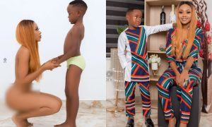 Alade Brown goes naked on son's birthday