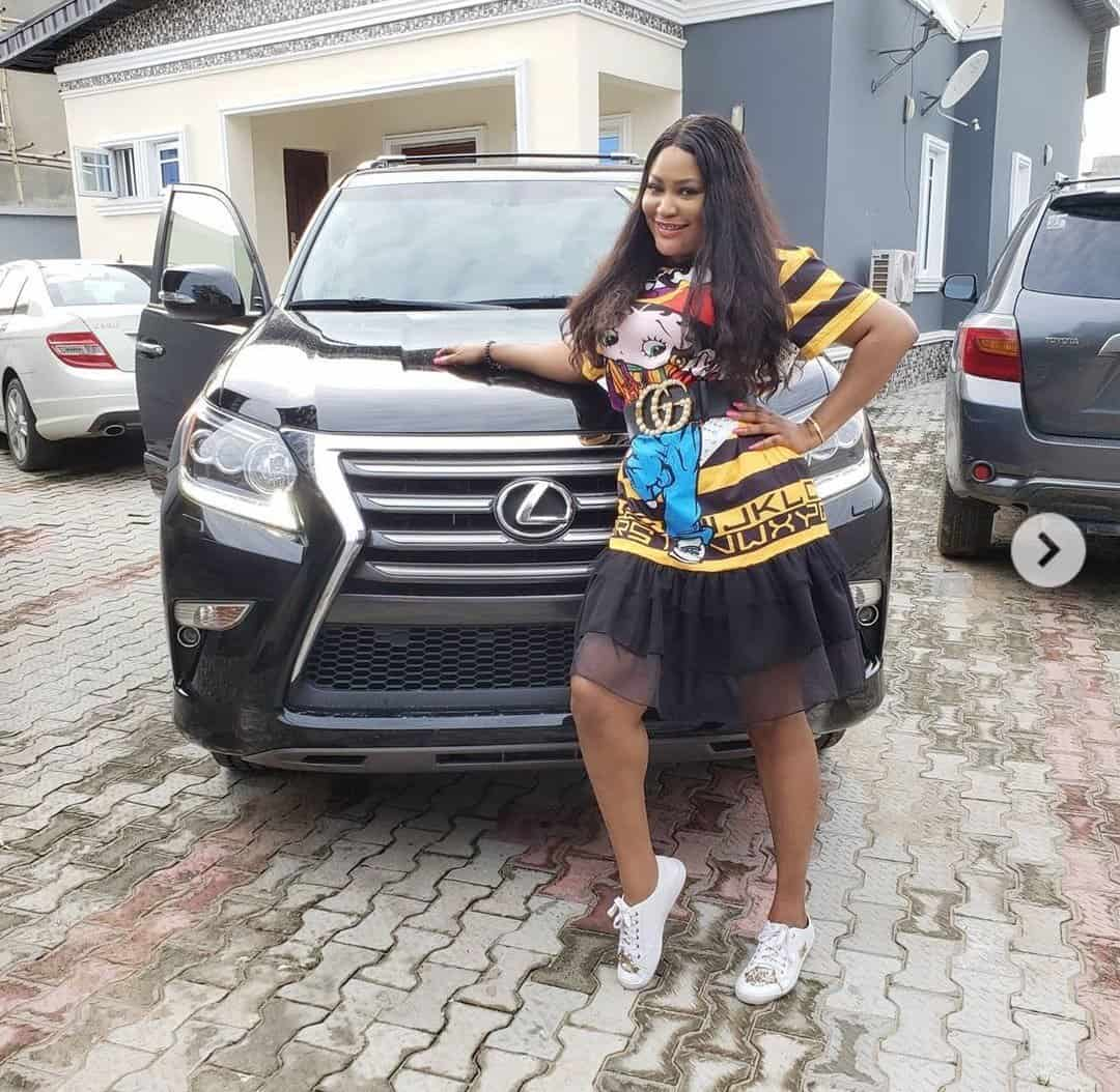 Photo of Uche Elendu joins actresses who have put their male counterparts to shame, flaunts new car