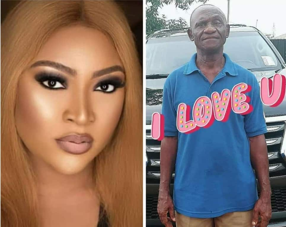 Photo of So you can't buy him good clothes – Trolls slams Uche Elendu for sharing picture of dad on Father's Day