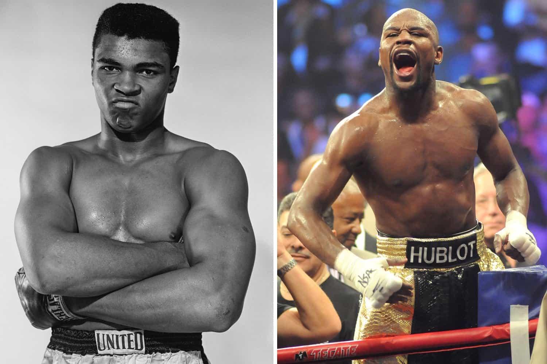 Muhammad Ali and Floyd Mayweather