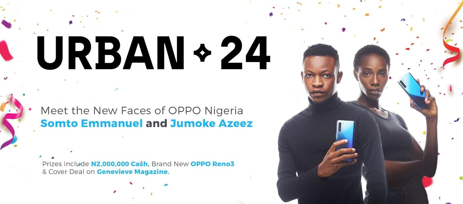 Photo of Meet the Winners of the Viral Urban24 Modelling Contest by OPPO Nigeria
