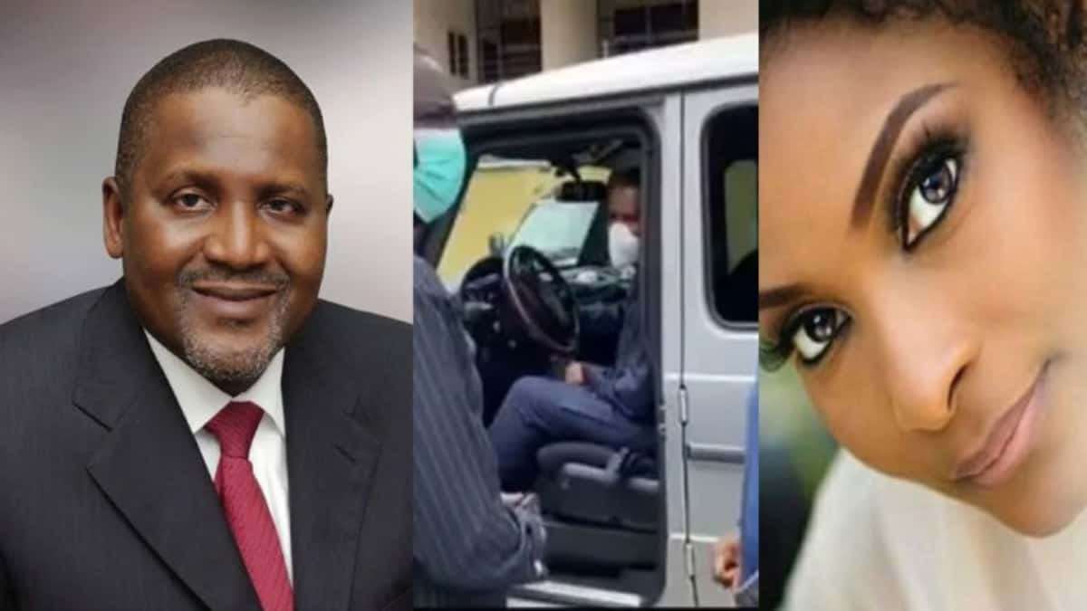 Photo of Billionaire, Dangote drives his GWagon to pay condolence visit to Pastor Ituah over his wife's death (video)